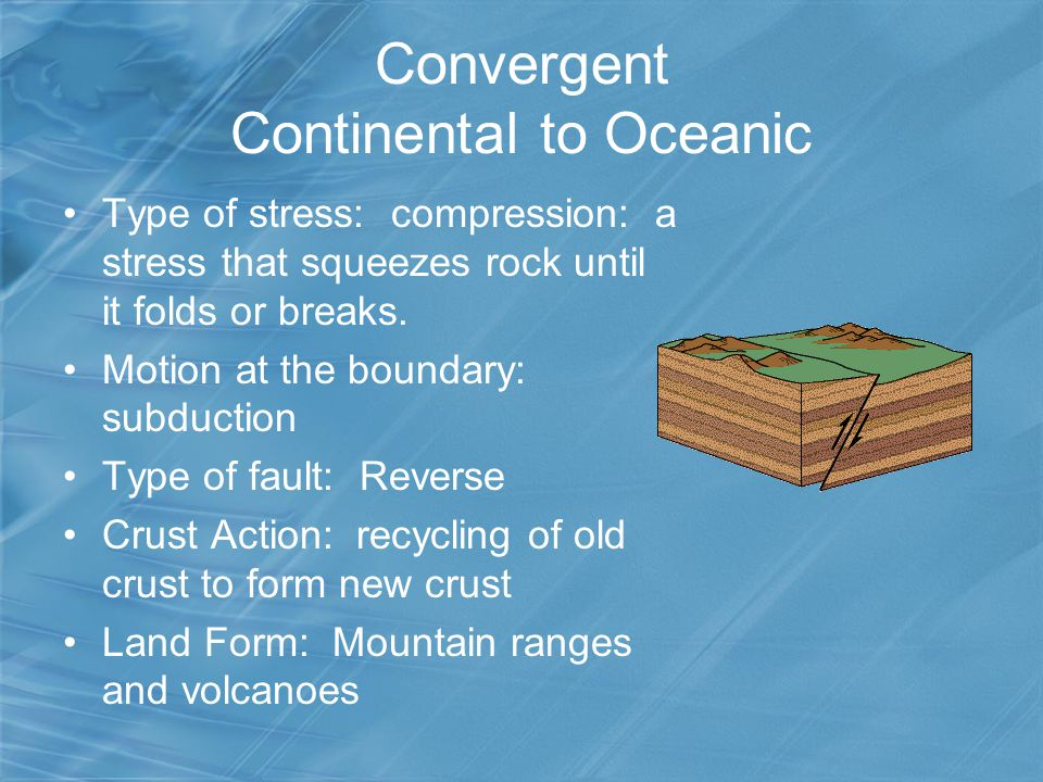Convergent Continental to Oceanic
