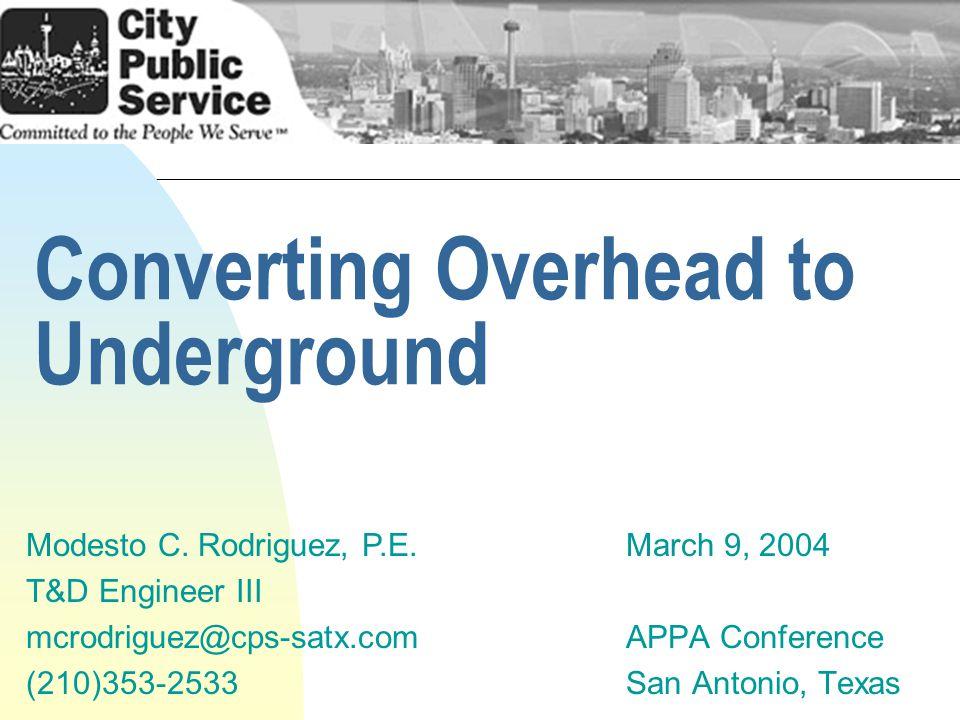 Converting Overhead to Underground