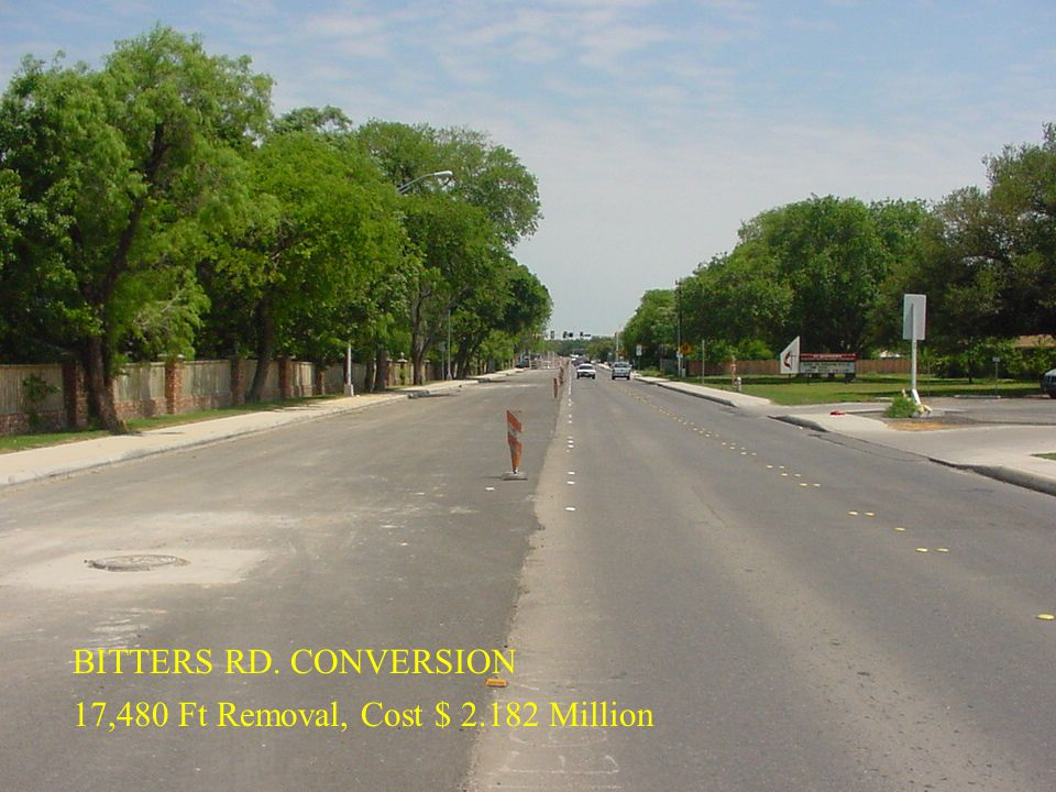 BITTERS RD. CONVERSION 17,480 Ft Removal, Cost $ 2.182 Million