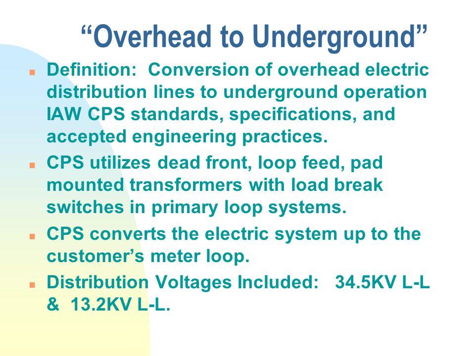 Overhead to Underground