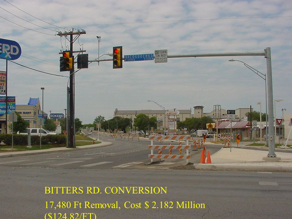 BITTERS RD. CONVERSION 17,480 Ft Removal, Cost $ 2.182 Million ($124.82/FT)
