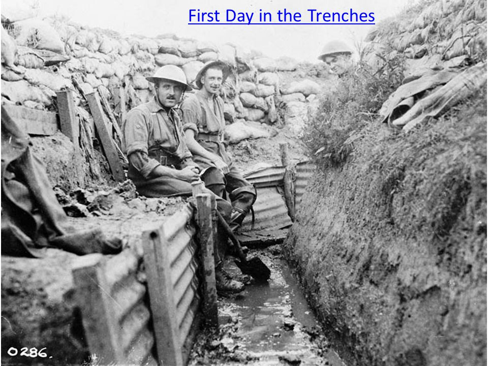 First Day in the Trenches