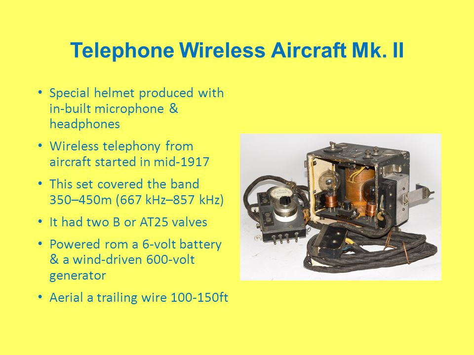 Telephone Wireless Aircraft Mk. II