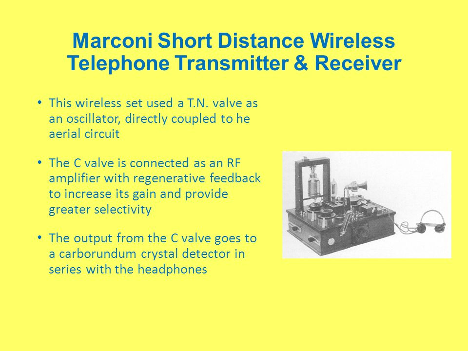 Marconi Short Distance Wireless Telephone Transmitter & Receiver