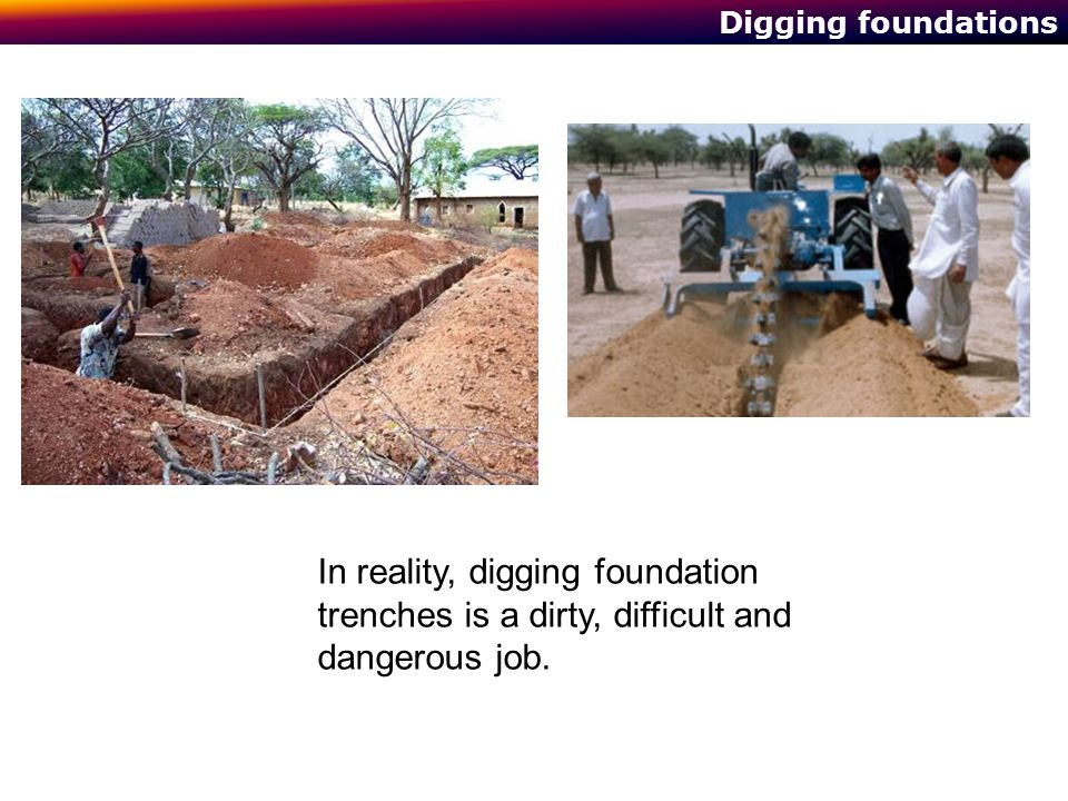1014 Building Technology Digging foundations.