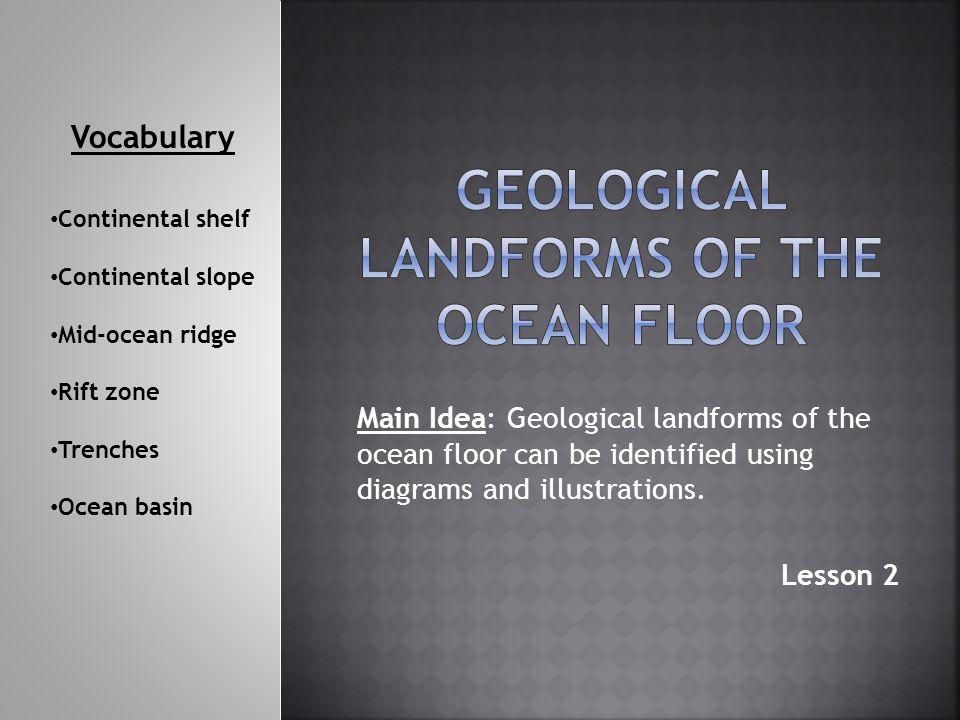 Geological Landforms of the ocean floor