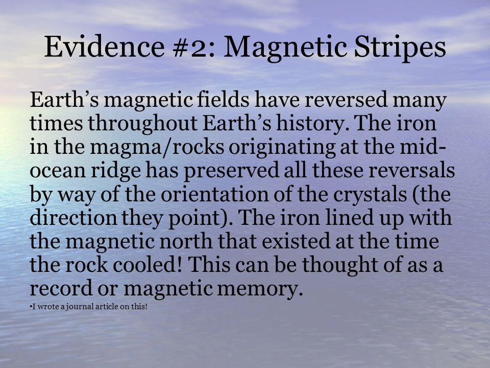 Evidence #2: Magnetic Stripes