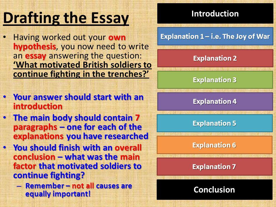 Explanation 1 – i.e. The Joy of War