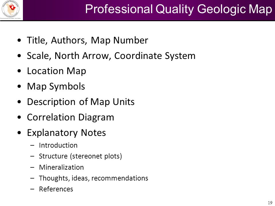 Professional Quality Geologic Map
