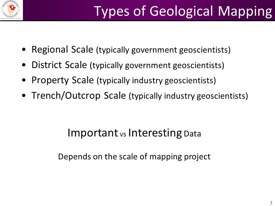 Types of Geological Mapping
