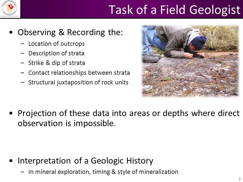 Task of a Field Geologist