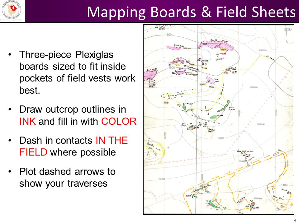 Mapping Boards & Field Sheets