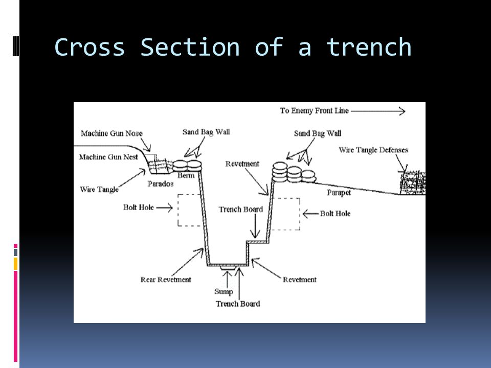 Cross Section of a trench