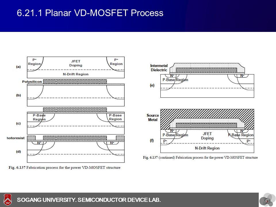 6.21.1 Planar VD-MOSFET Process