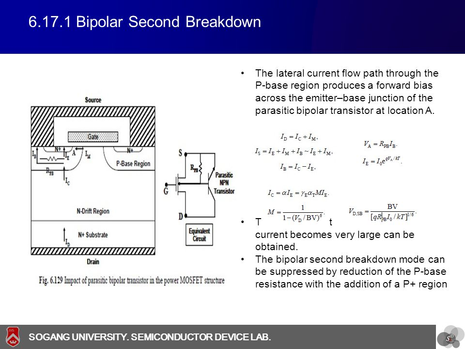 6.17.1 Bipolar Second Breakdown