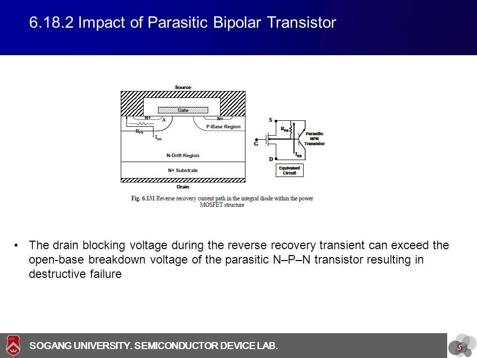 6.18.2 Impact of Parasitic Bipolar Transistor