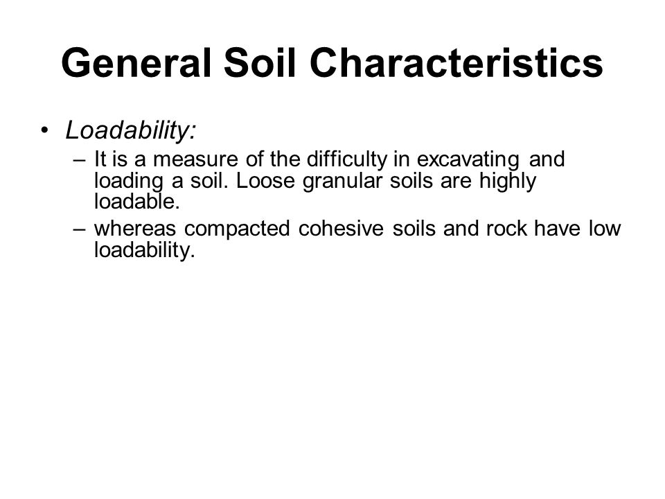 General Soil Characteristics
