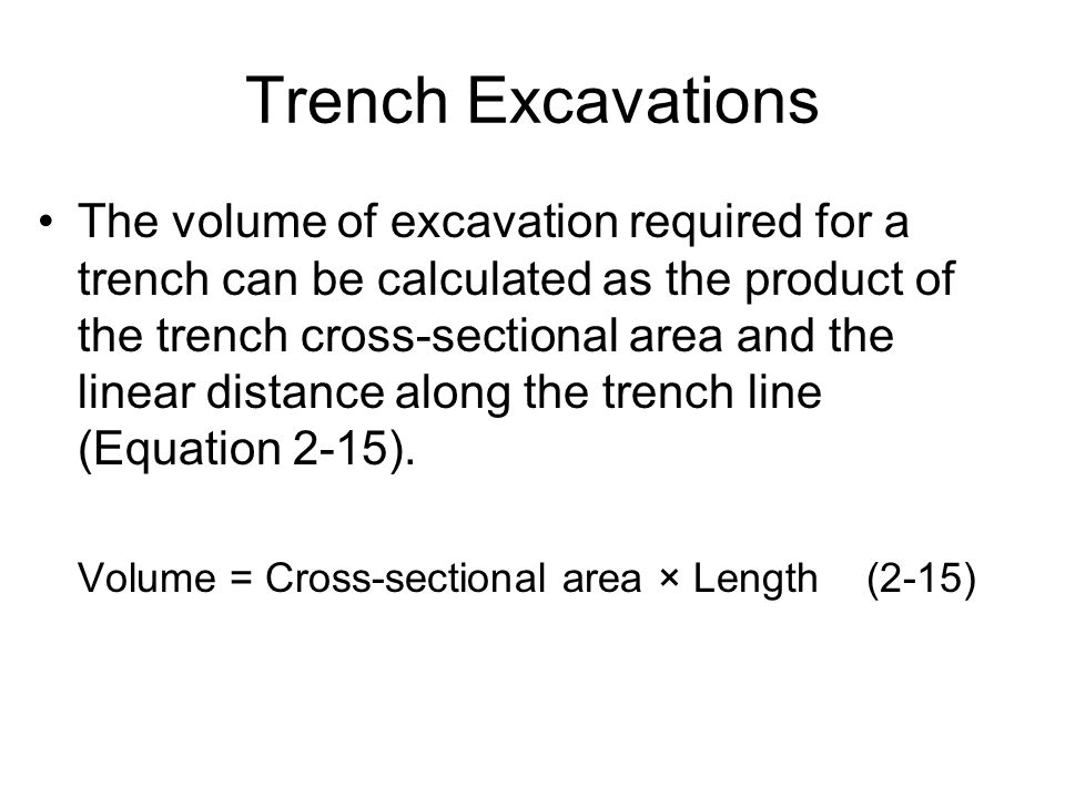 Trench Excavations