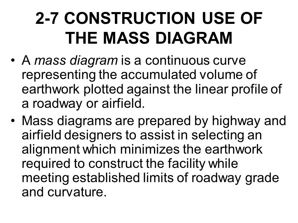 2-7 CONSTRUCTION USE OF THE MASS DIAGRAM