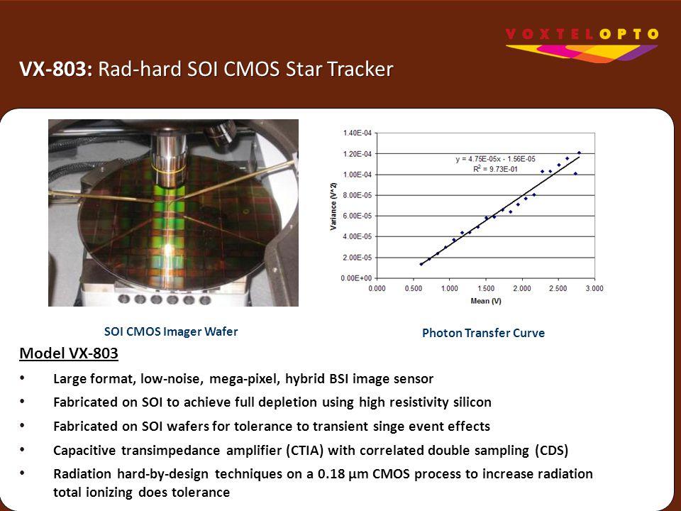VX-803: Rad-hard SOI CMOS Star Tracker