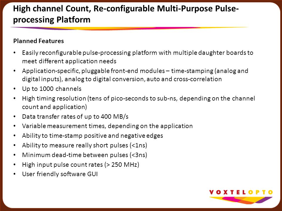 High channel Count, Re-configurable Multi-Purpose Pulse-processing Platform