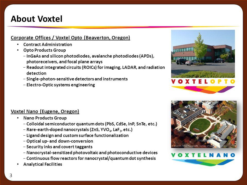 About Voxtel Corporate Offices / Voxtel Opto (Beaverton, Oregon)