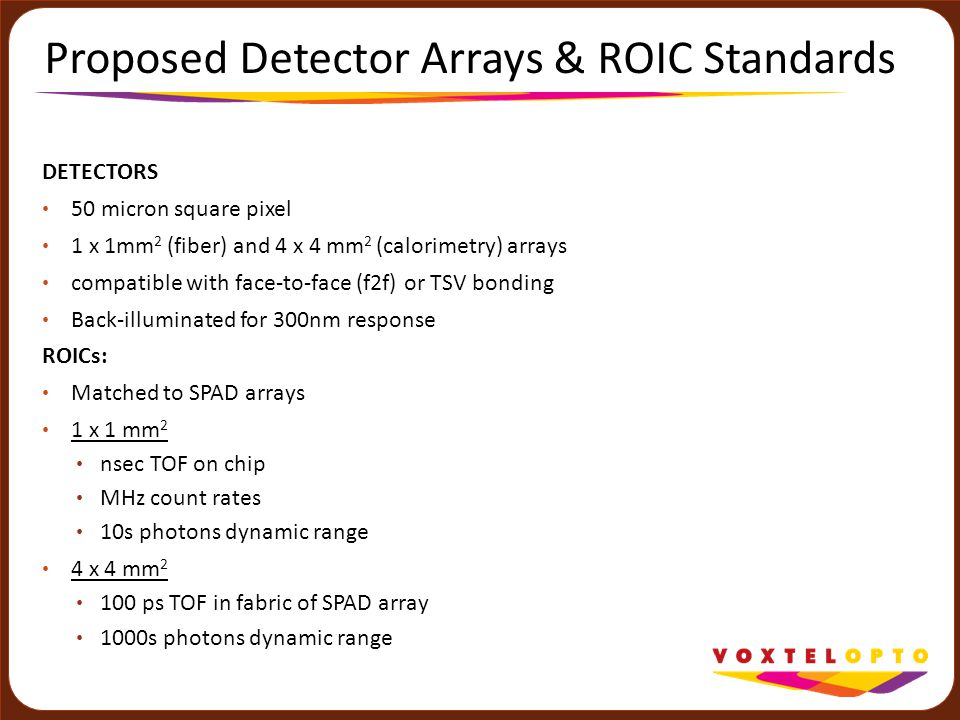 Proposed Detector Arrays & ROIC Standards