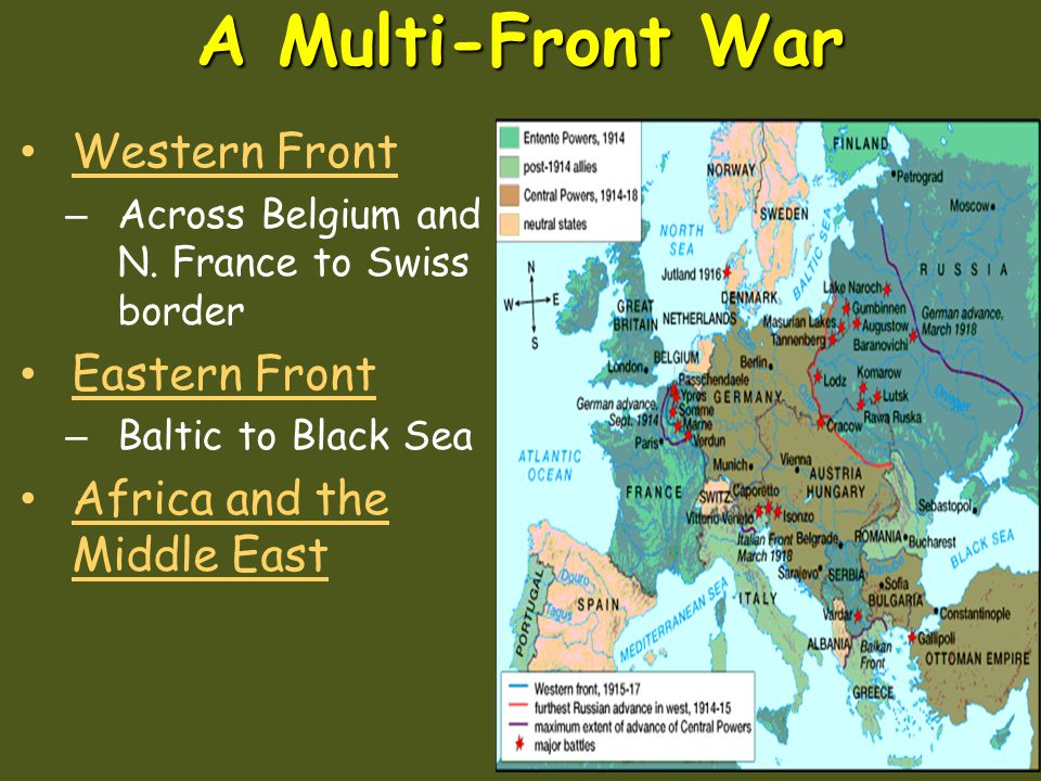 A Multi-Front War Western Front Eastern Front
