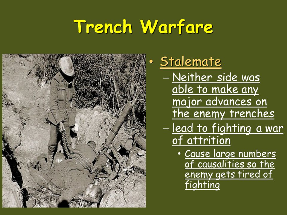 Trench Warfare Stalemate
