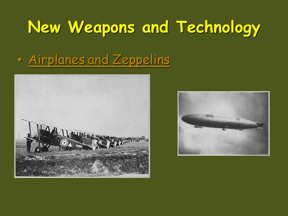 New Weapons and Technology