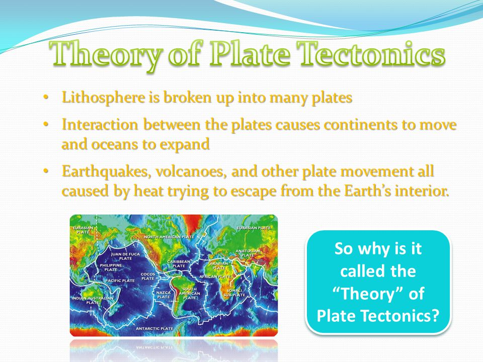 So why is it called the Theory of Plate Tectonics