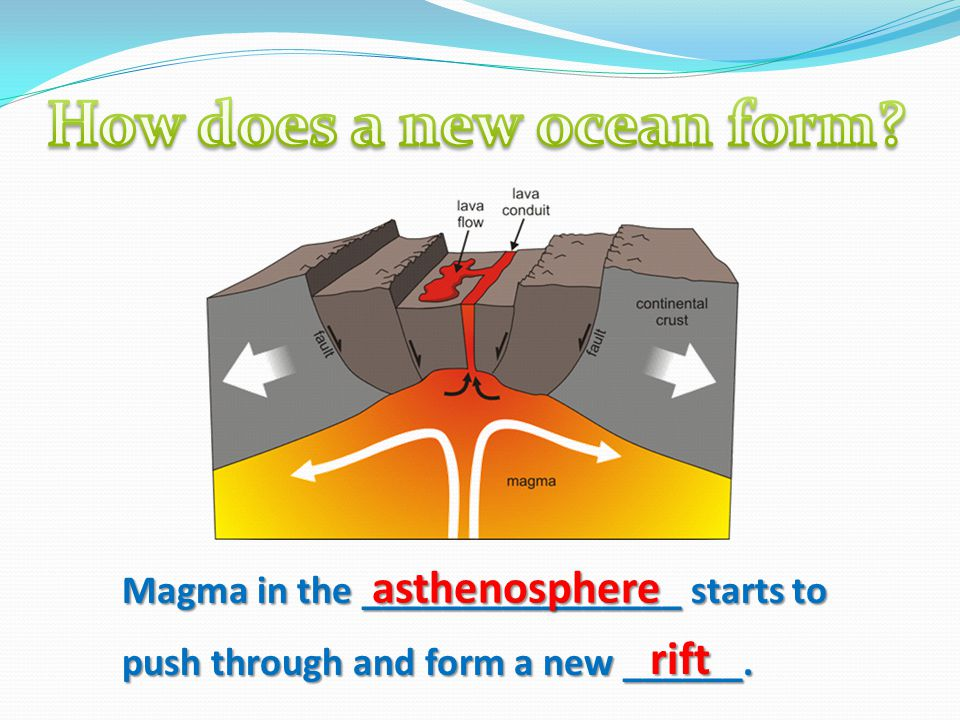 How does a new ocean form