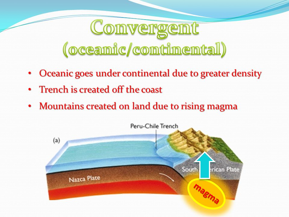 (oceanic/continental)