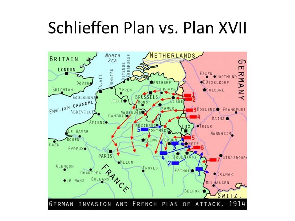 Schlieffen Plan vs. Plan XVII