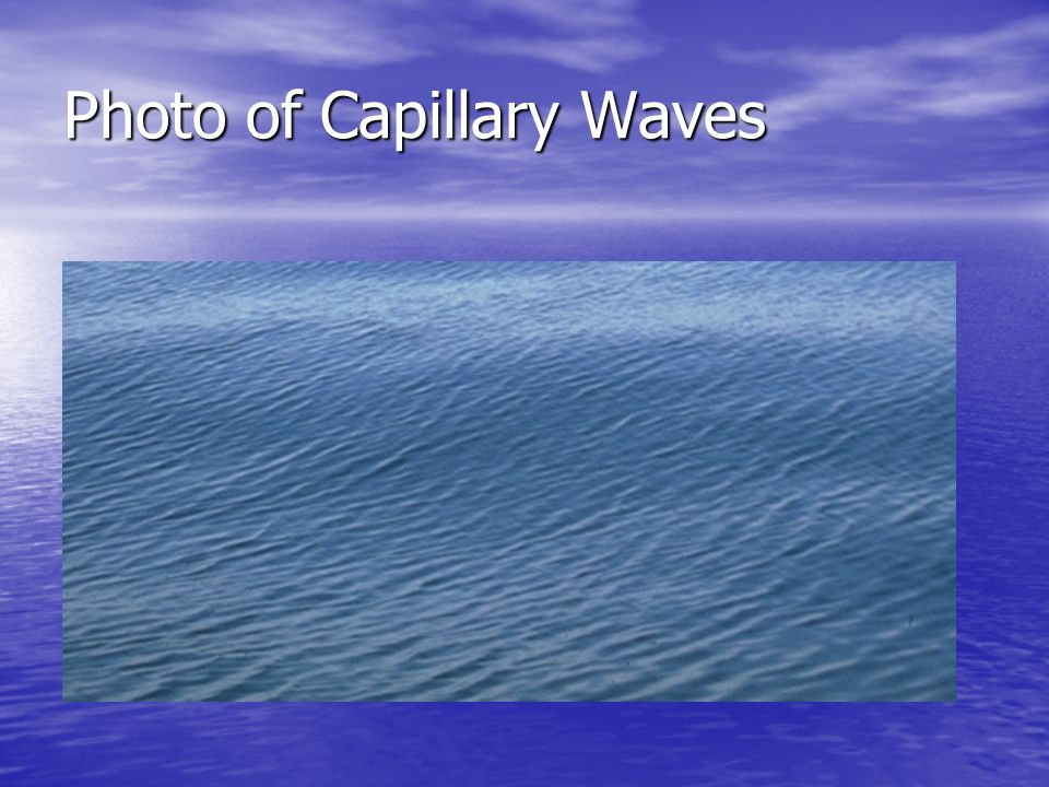 Photo of Capillary Waves