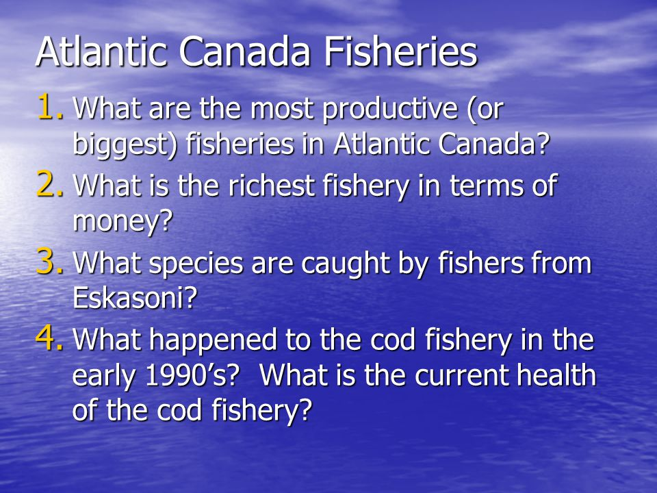 Atlantic Canada Fisheries