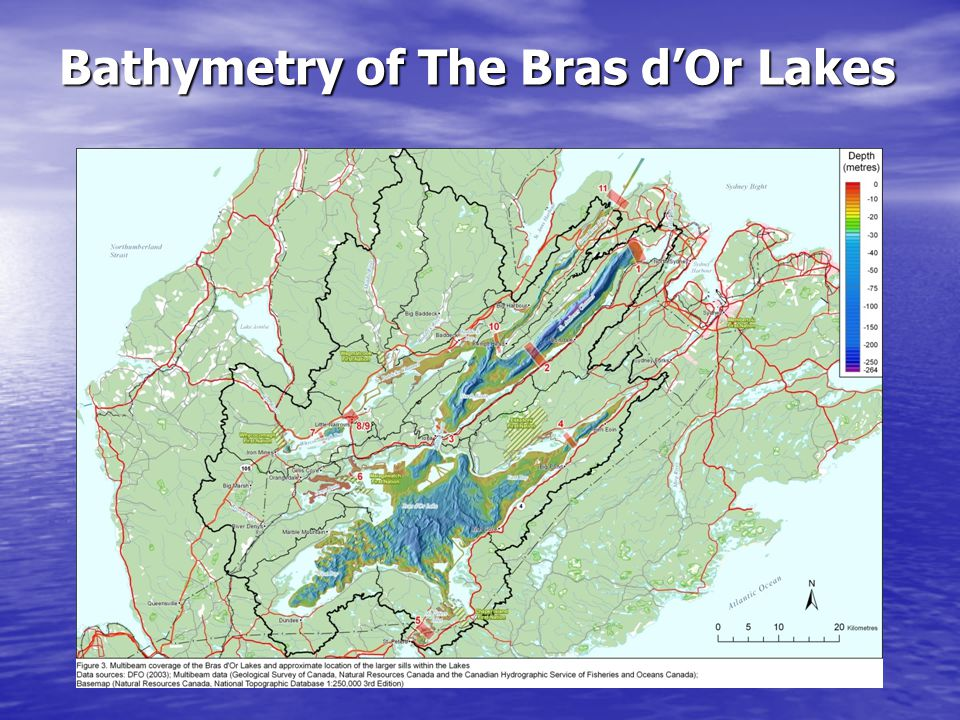 Bathymetry of The Bras d'Or Lakes