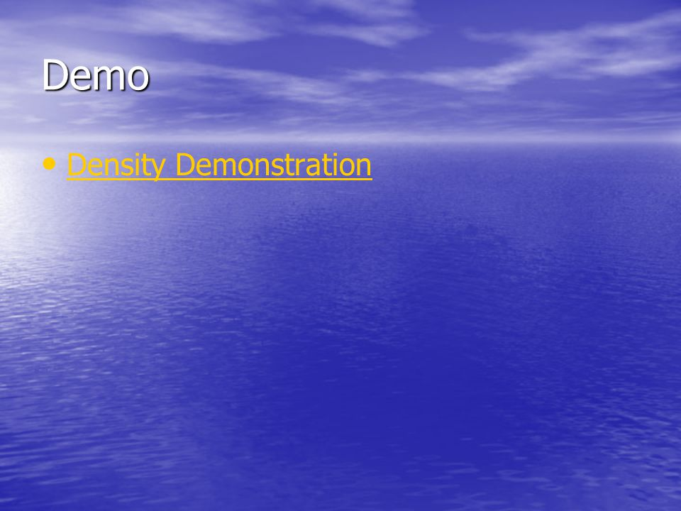 Demo Density Demonstration