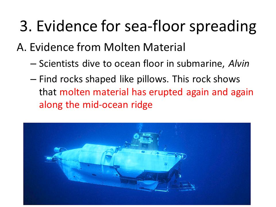 3. Evidence for sea-floor spreading
