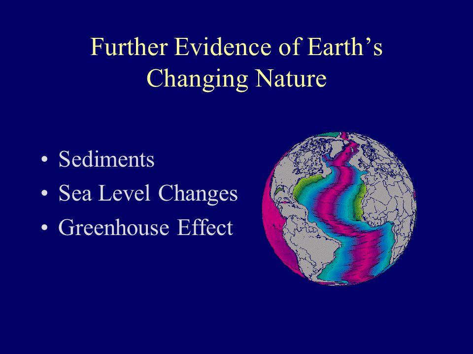 Further Evidence of Earth's Changing Nature