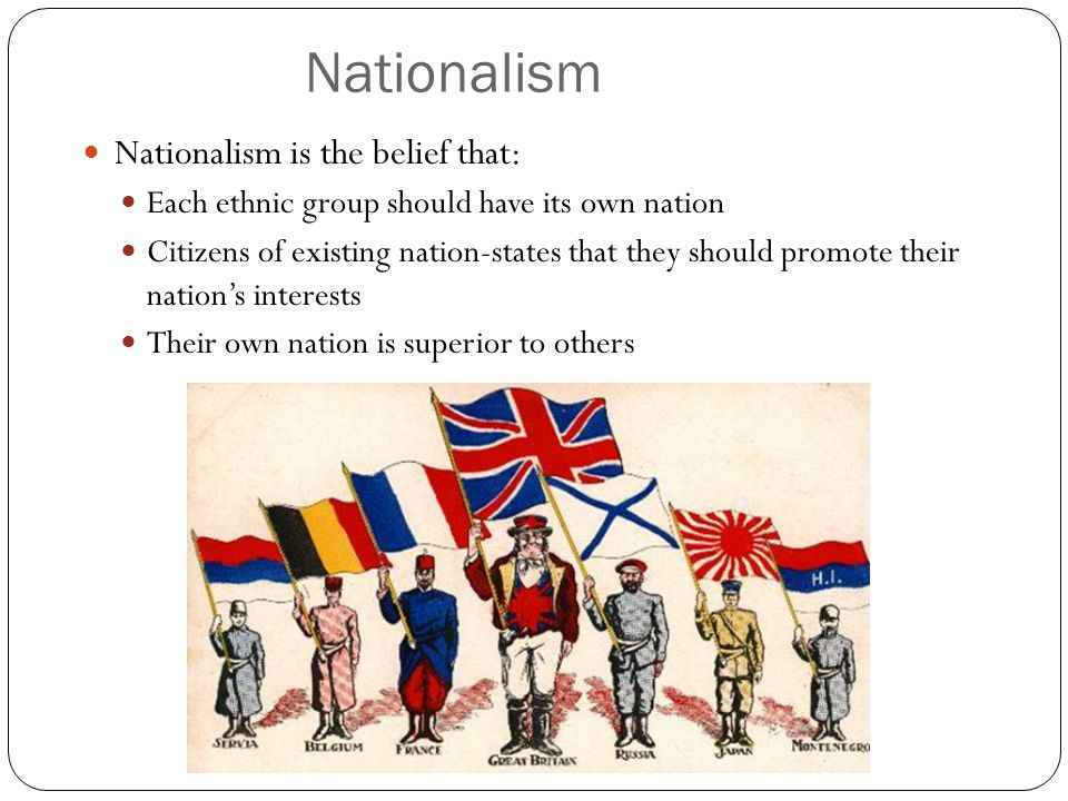 Nationalism Nationalism is the belief that: