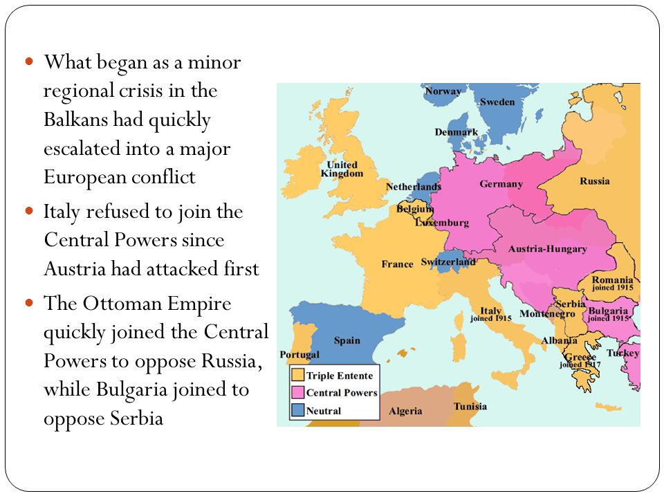 What began as a minor regional crisis in the Balkans had quickly escalated into a major European conflict