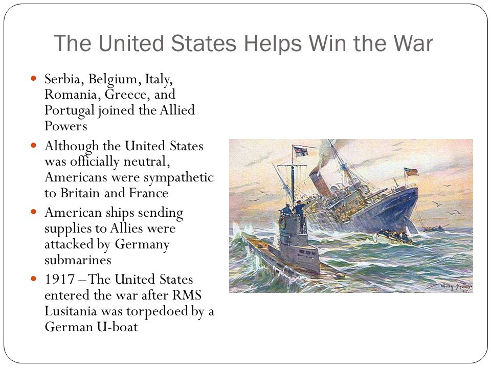 The United States Helps Win the War