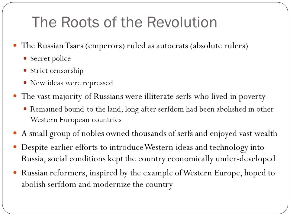 The Roots of the Revolution