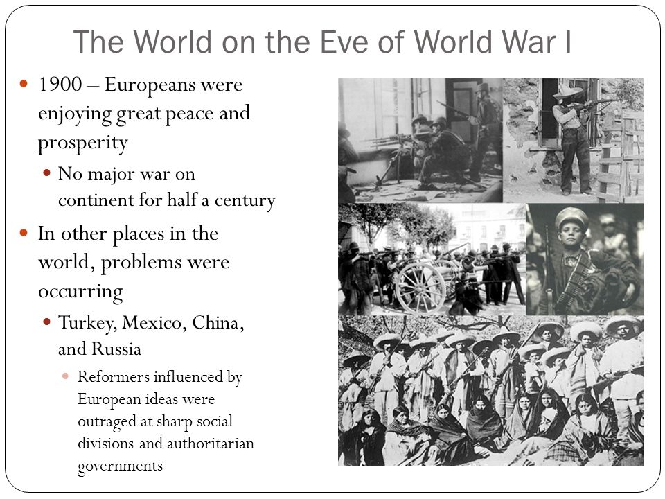 The World on the Eve of World War I