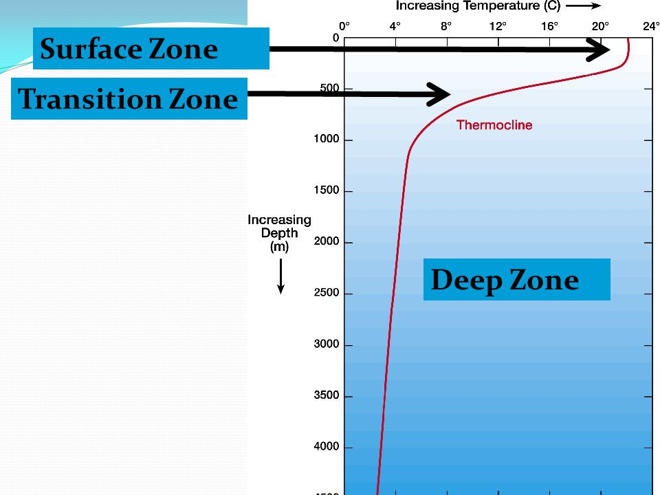 Surface Zone Transition Zone Deep Zone