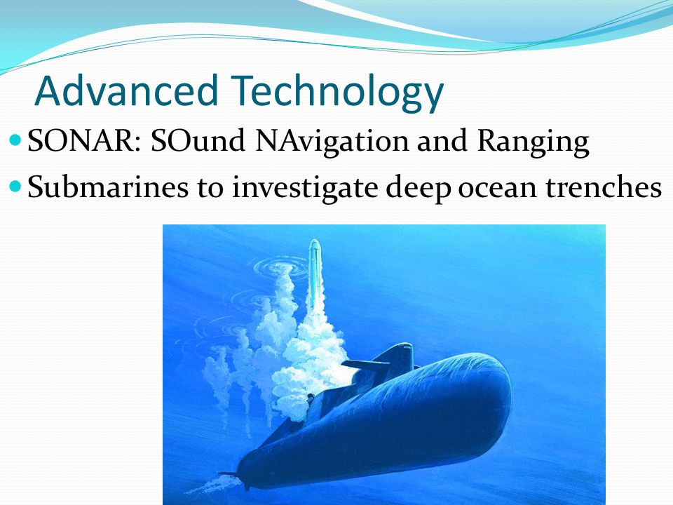 Advanced Technology SONAR: SOund NAvigation and Ranging