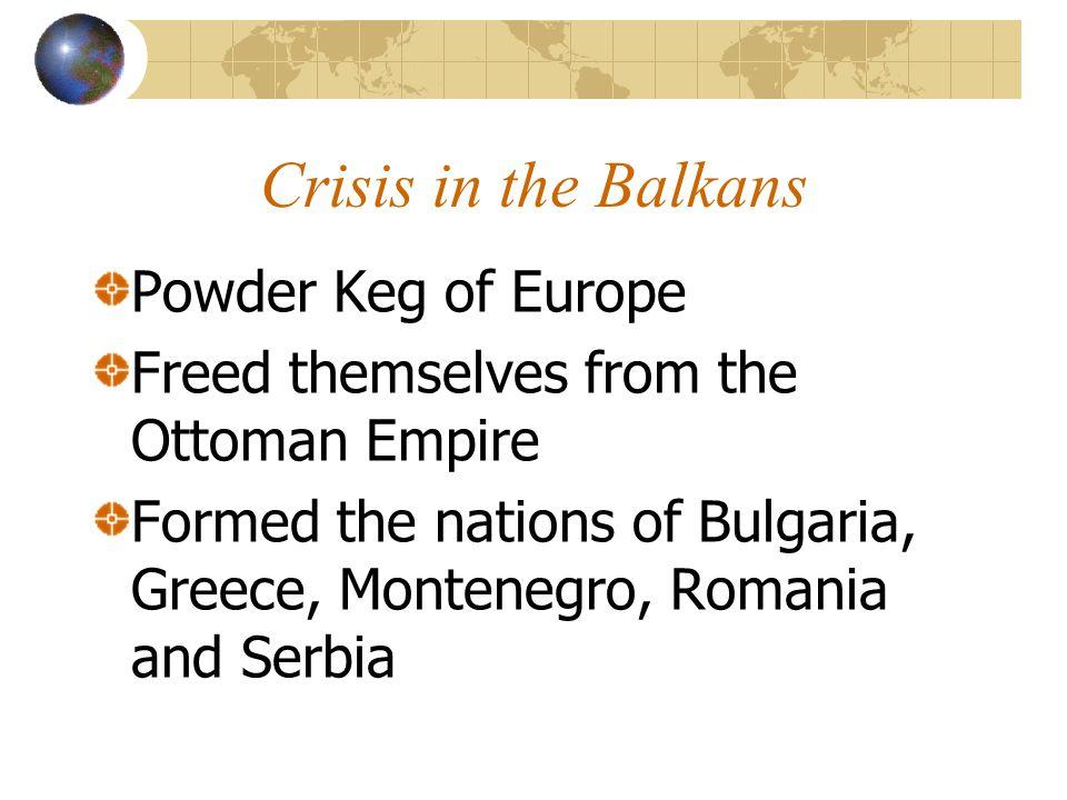 Crisis in the Balkans Powder Keg of Europe