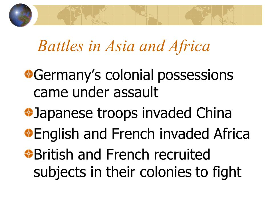 Battles in Asia and Africa
