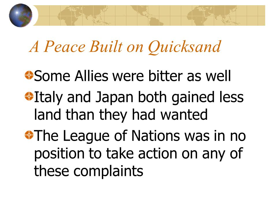 A Peace Built on Quicksand